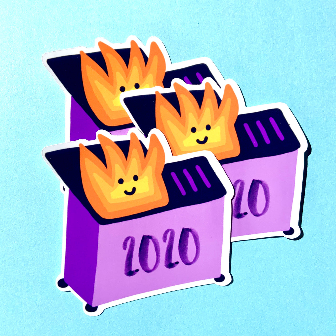 Dumpster fire 2020 stickers (pack of 3!)