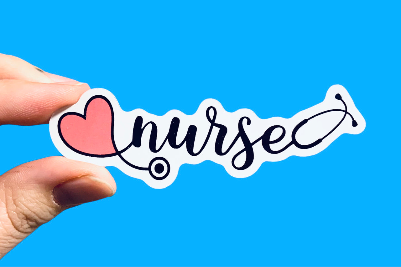 ❤️ Nurse (pack of 3 or 5 stickers)