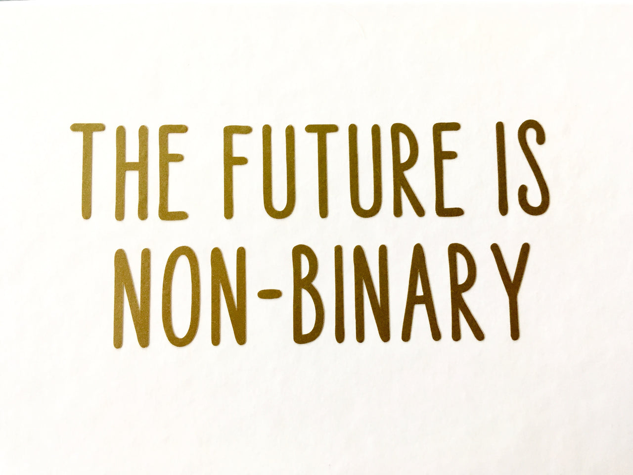 The future is non-binary vinyl decal - Radical Buttons