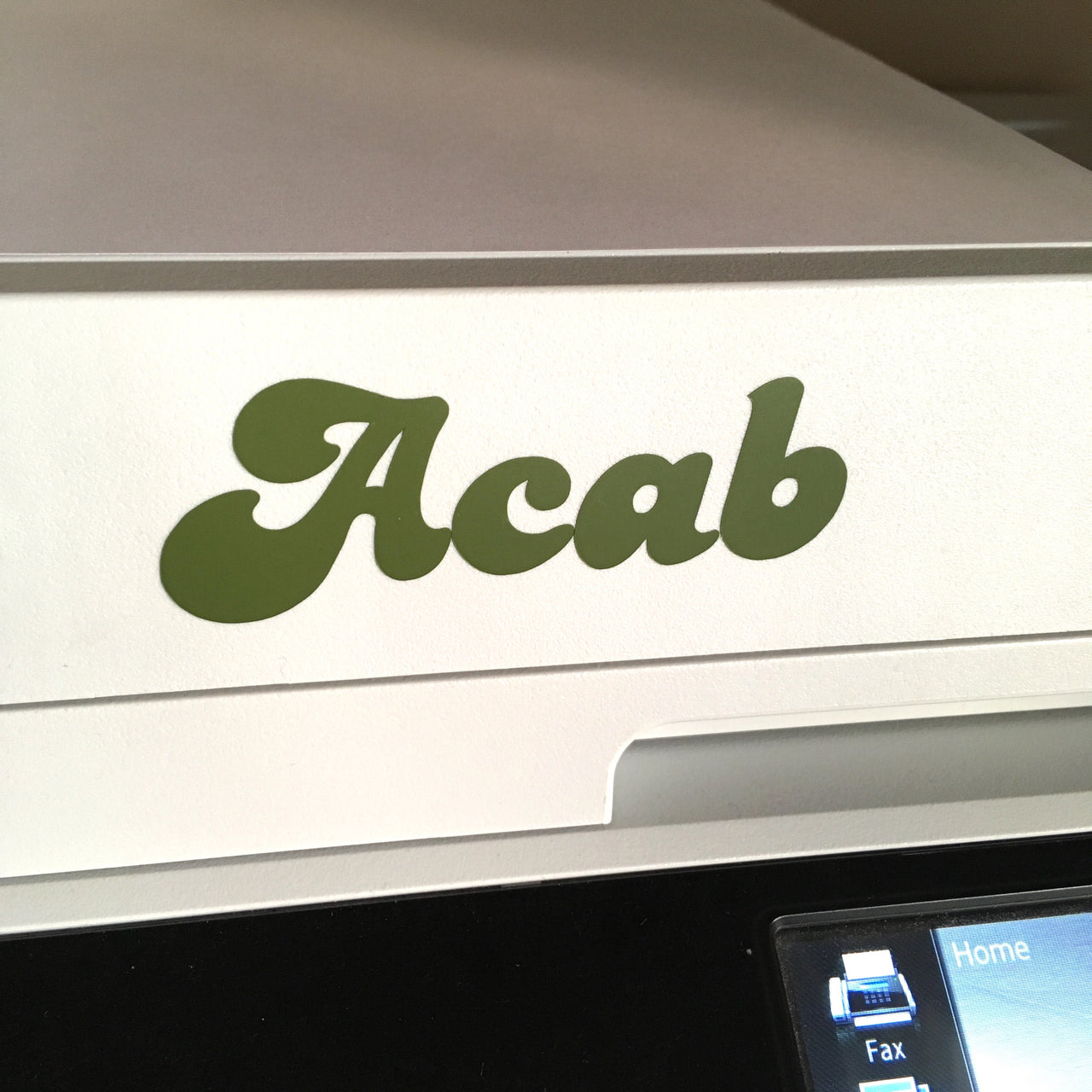 ACAB vinyl decal - Radical Buttons