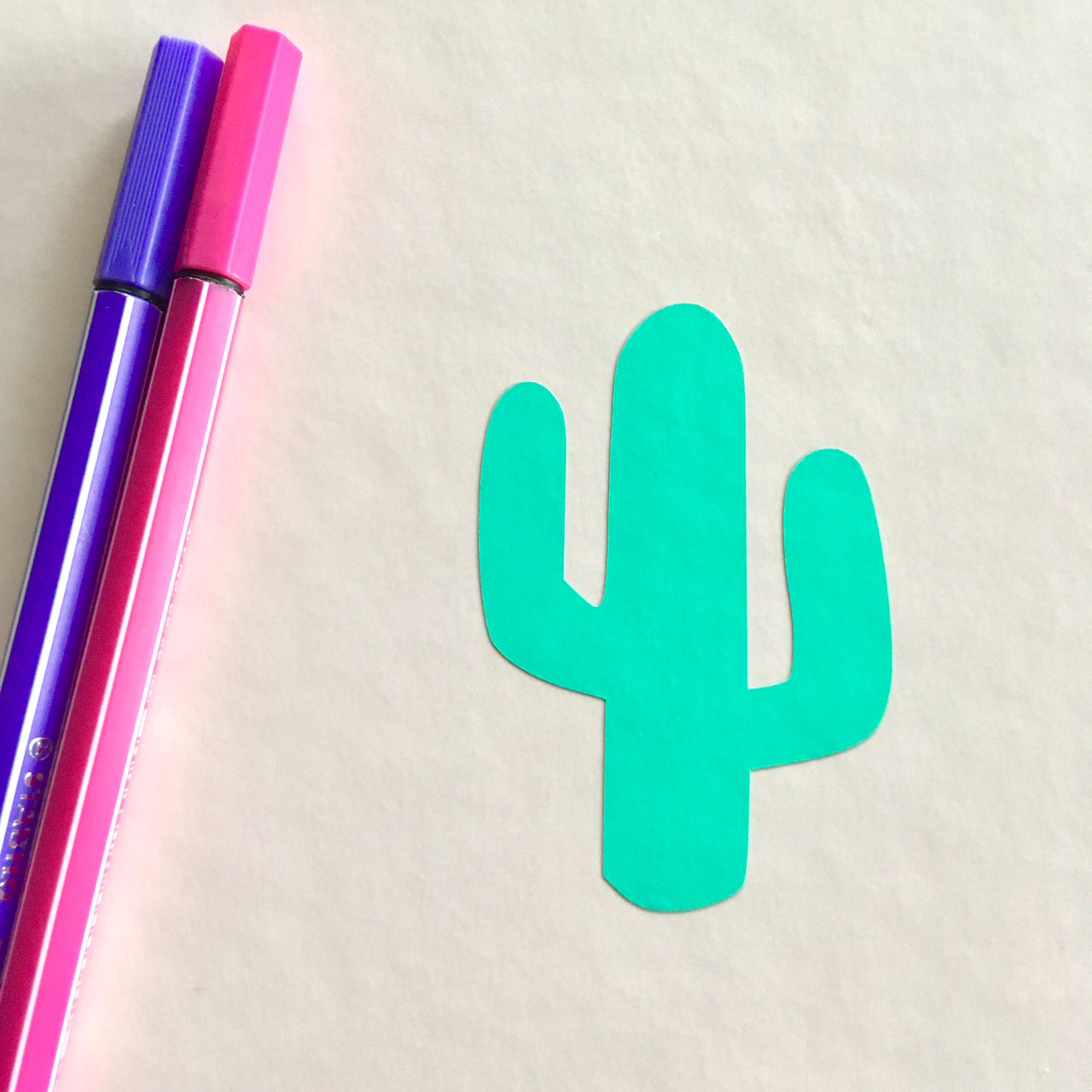 Cactus vinyl decal - Radical Buttons