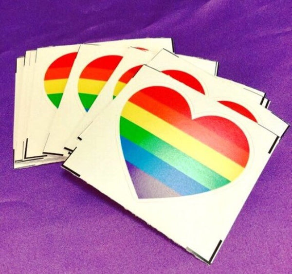 Rainbow pride heart - Radical Buttons