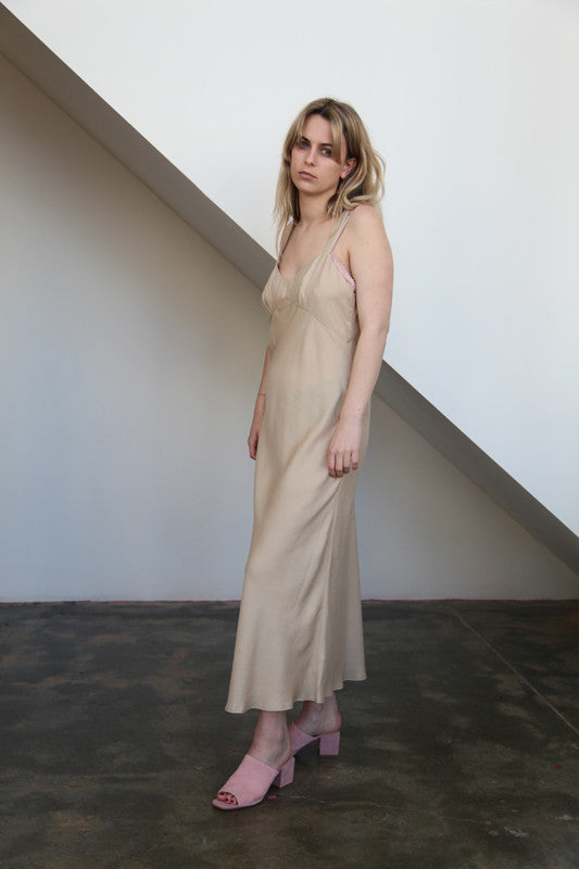 Werthers Slip Dress | Camel