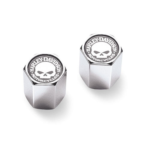 Harley-Davidson Willie G Skull ABS Valve Stem Caps