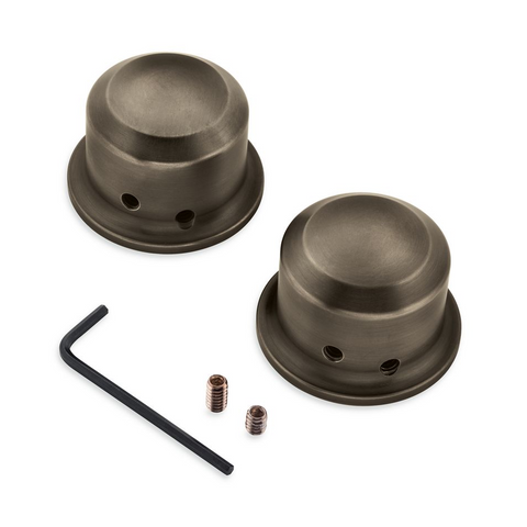 Harley-Davidson Brass Front Axle Nut Covers