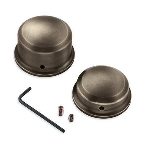 Harley-Davidson Brass Rear Axle Nut Covers