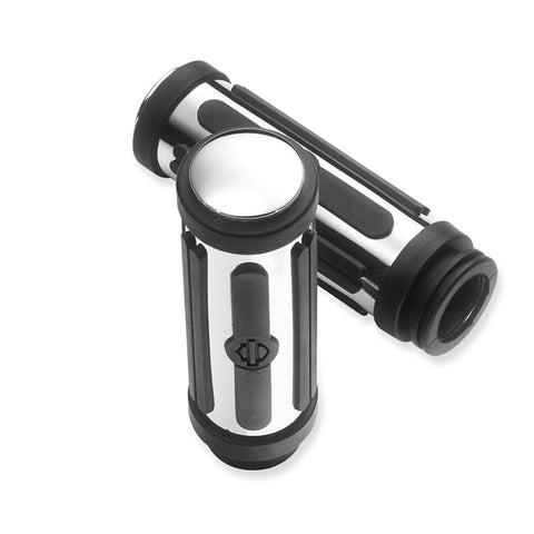 Harley-Davidson Chrome & Rubber Hand Grips 56263-08