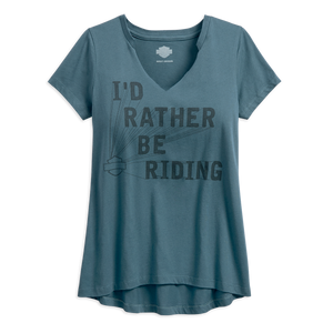 Harley-Davidson Rather Be Riding Women's Tee