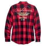 Harley-Davidson World Famous Plaid Women's Shirt
