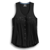 Harley-Davidson Mesh Lace Accent Women's Woven Tank