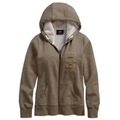 Harley-Davidson Sherpa Fleece Lined Women's Hoodie (Regular)