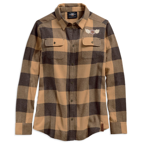 Harley-Davidson Winged H-D Women's Plaid Shirt