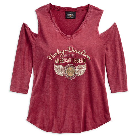 Harley-Davidson Winged H-D Women's Cold Shoulder Top
