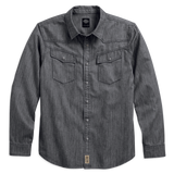 Harley-Davidson Gray Denim Men's Shirt