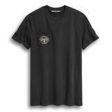 Harley-Davidson Skull Flag Pocket Men's Tee