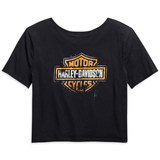 Harley-Davidson Patina Bar & Shield Logo Women's Cropped Tee
