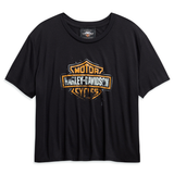 Harley-Davidson Patina Bar & Shield Logo Women's Flowy Cropped Tee