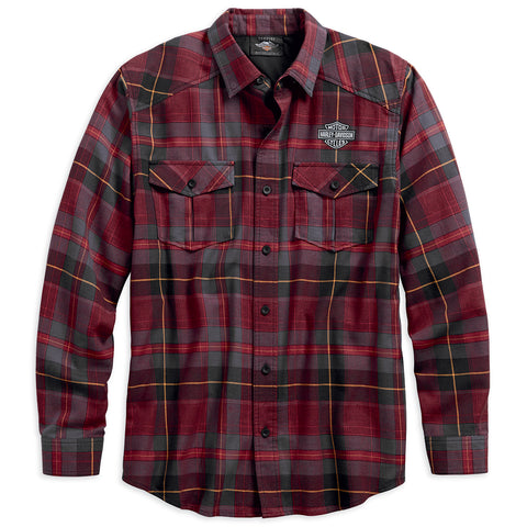Harley-Davidson High Density Print Men's Plaid Shirt