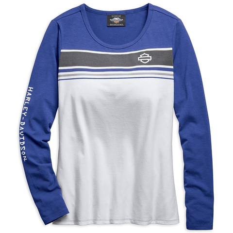 Harley-Davidson Chest Stripe Women's Long Sleeve Tee