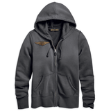 Harley-Davidson Double Layer Felt Letter Women's Hoodie