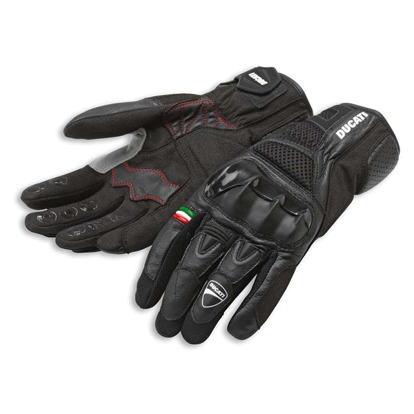Ducati City C2 Men's Fabric-Leather Gloves 98102826