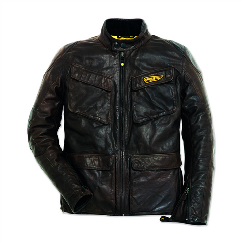 Ducati Scrambler Quattrotasche Men's Leather Jacket 9810312
