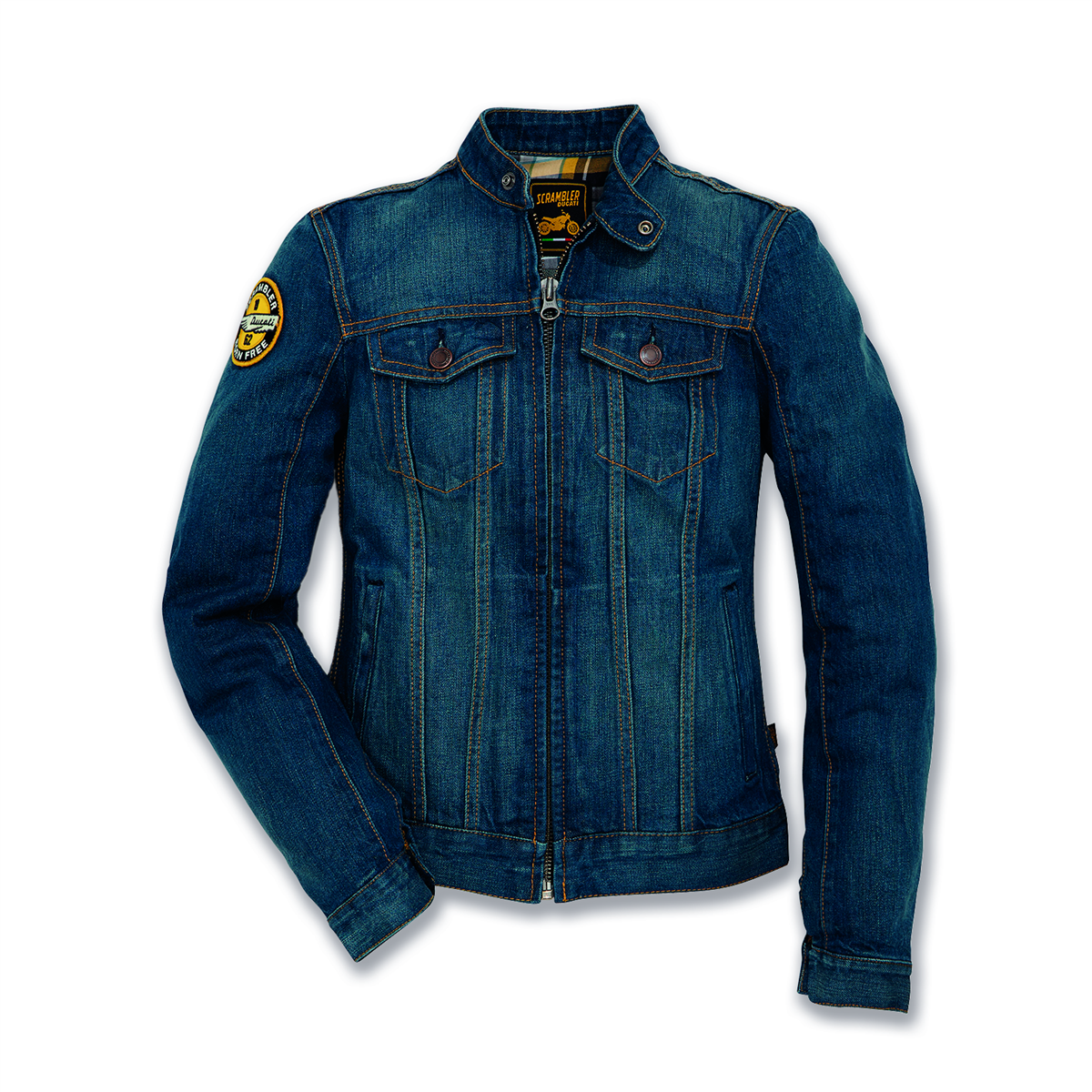 Ducati Scrambler Trucker Patch Women S Denim Jacket 98103390