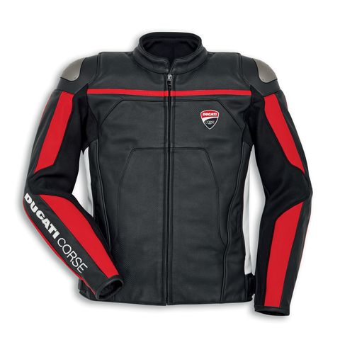 Ducati Corse C4 Men's Leather Perforated Jacket