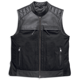 Harley-Davidson Synthesis Pocket System Men's Leather/Textile Vest