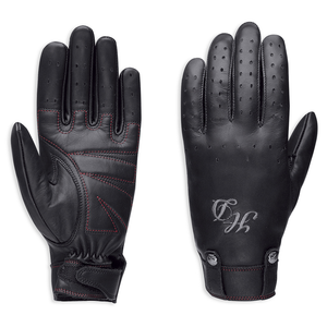 Harley-Davidson Skull Rivet Women's Leather Gloves