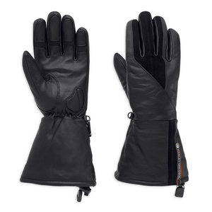 Harley-Davidson Gage Women's Leather Gauntlet Gloves