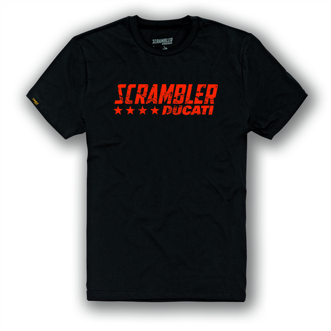 Ducati Scrambler Black Flip Men's Shirt