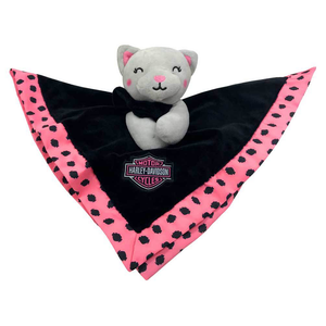Harley-Davidson Kitty Cuddles Plush Blanket