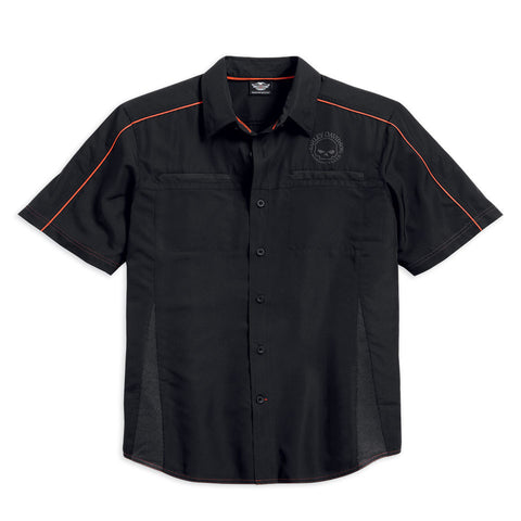 Harley-Davidson Black Vented Performance Skull Men's Shirt 99034-15VM