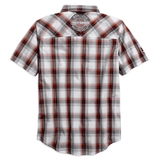 Harley-Davidson Genuine Oil Can Plaid Men's Shirt