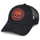 Harley-Davidson Orange Skull Men's Trucker Hat