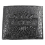 Harley-Davidson Embossed Bar & Shield Bifold Wallet