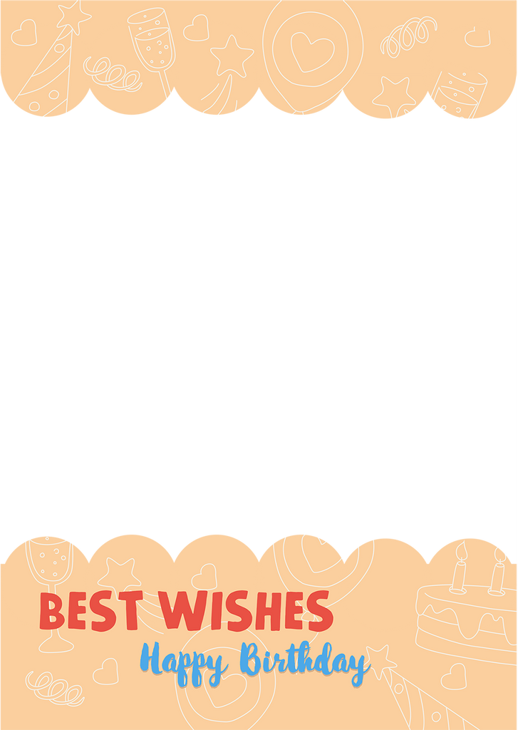 Birthday Best Wishes Photo Topper (A4)