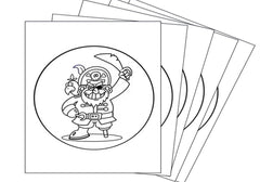 Colour Me In Cake Topper - Pirate (Multi Pack)