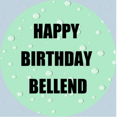 'Happy Birthday Bellend' - cupcake toppers