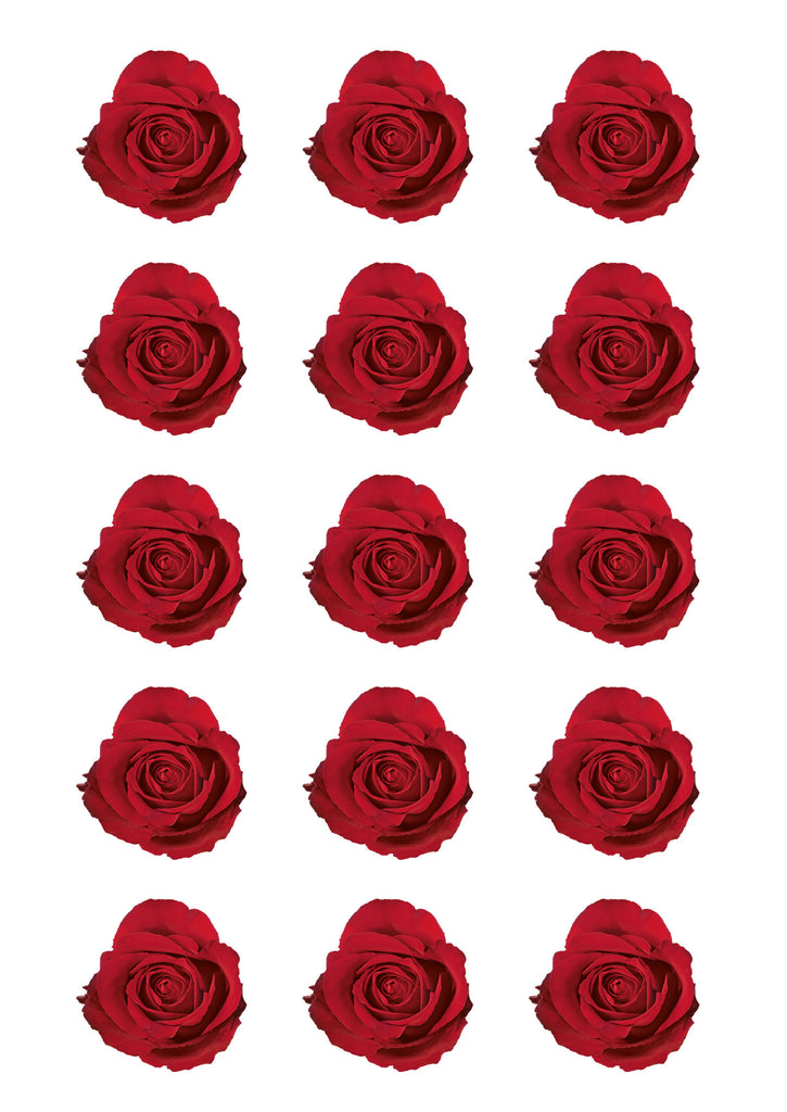 Red Roses Icing Prints