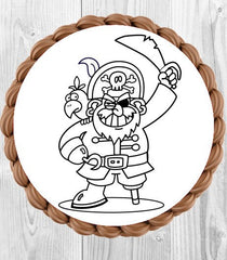 Colour Me In Cake Topper - Pirate