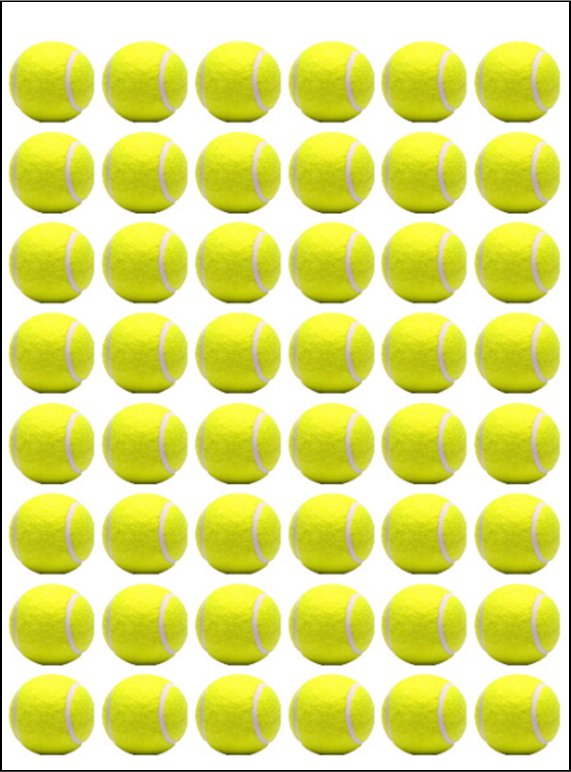 Wimbledon Tennis ball cake toppers