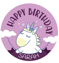 Unicorn large cake topper
