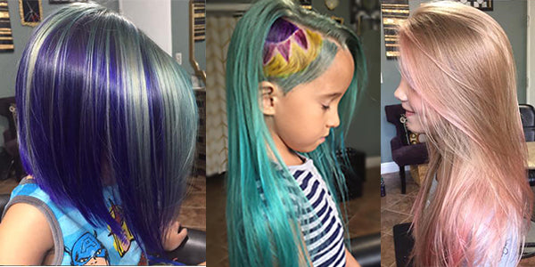 Mary's little girl's colorful hair!