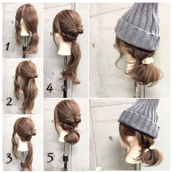 Nice Hairstyles for Winter No.6