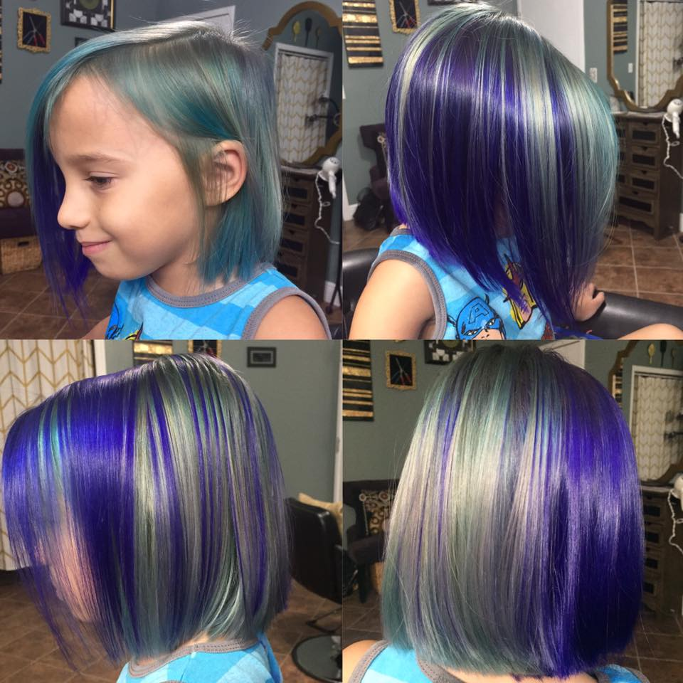 Little girl's colorful hair!
