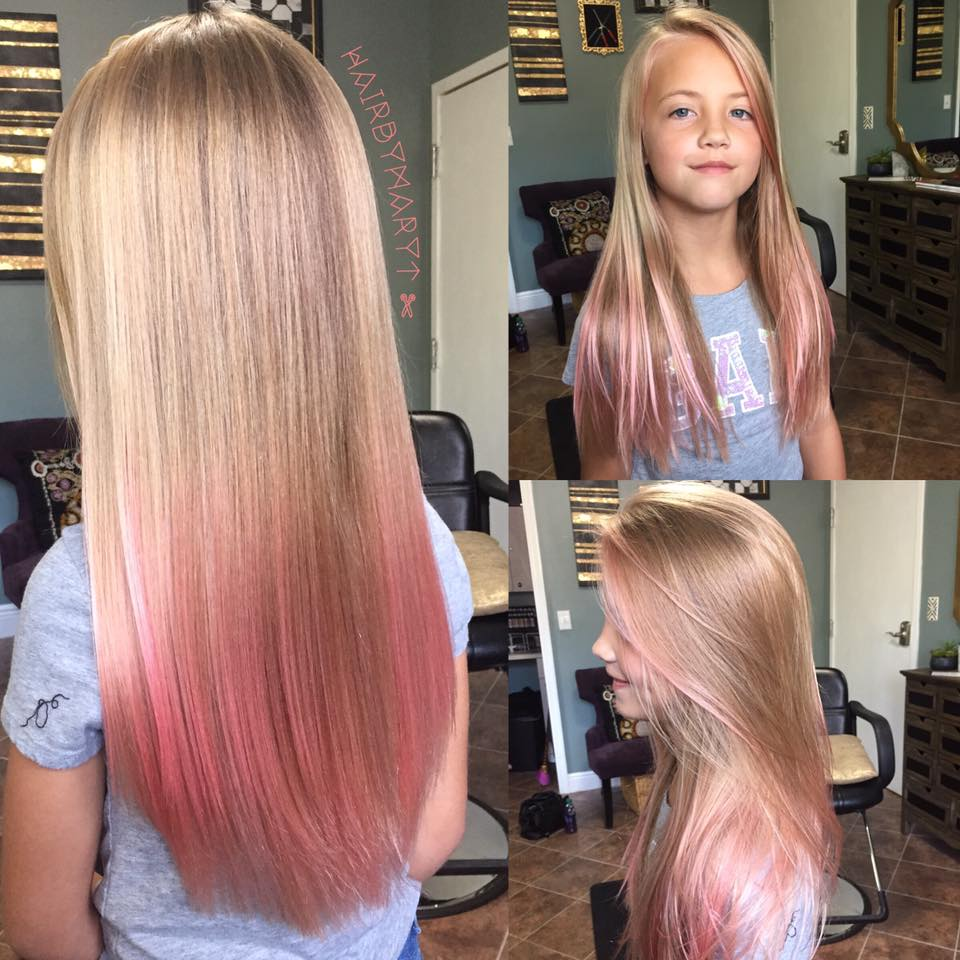 Little girl's long colorful hair!