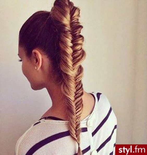 Amazing updo fishtail