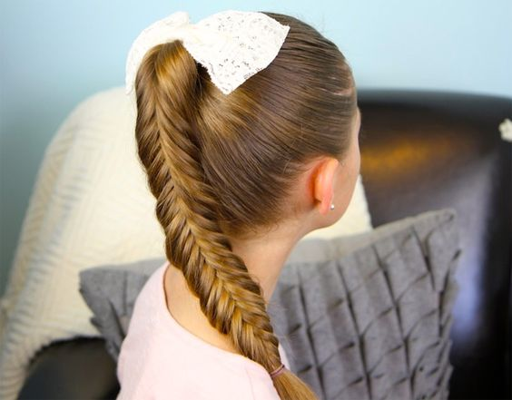 Cute fishtail updo